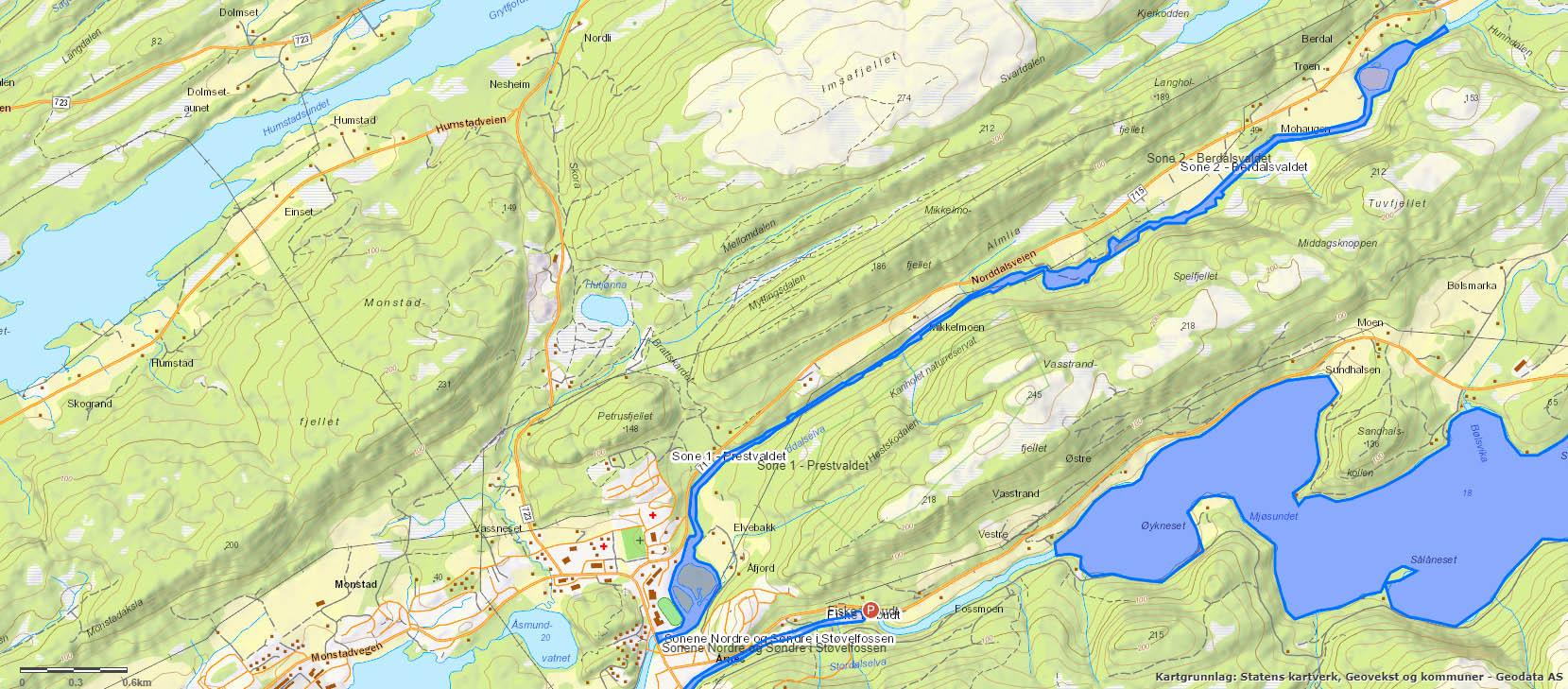 Nordalselva kart